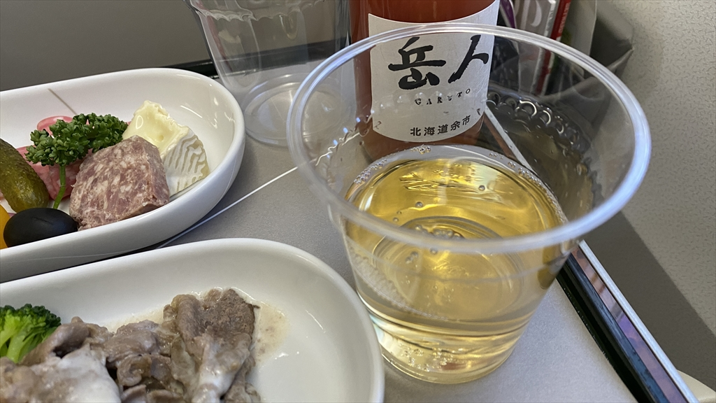 JAL JL919 羽田~沖縄(那覇) ファーストクラス機内食 21JAN21