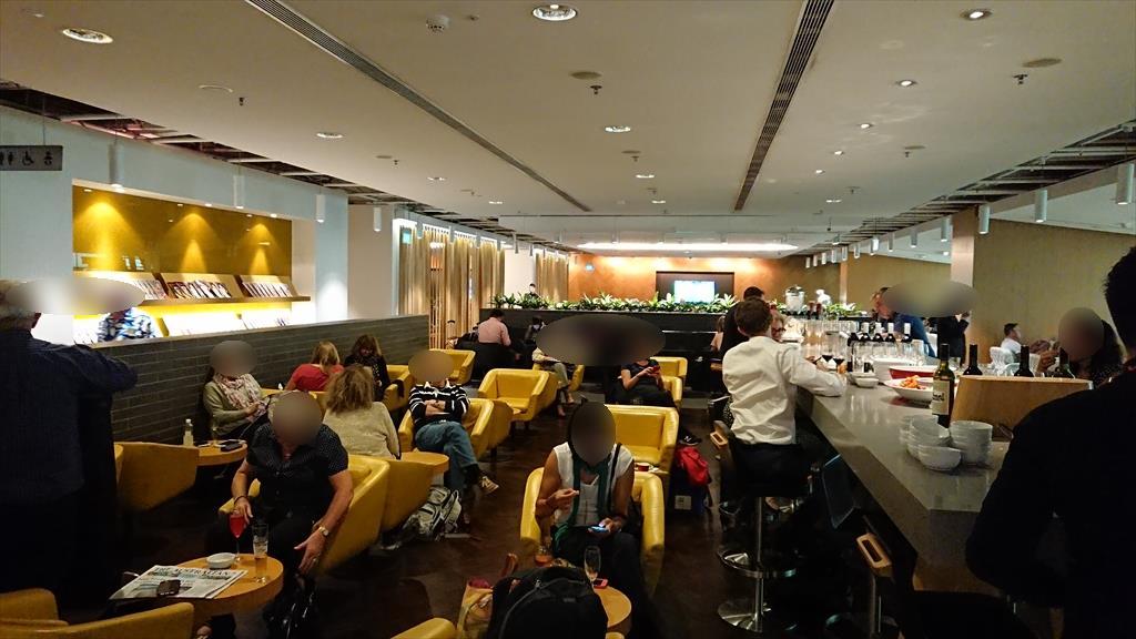 シンガポール チャンギ国際空港 カンタス航空 シンガポールラウンジ 19年2月訪問