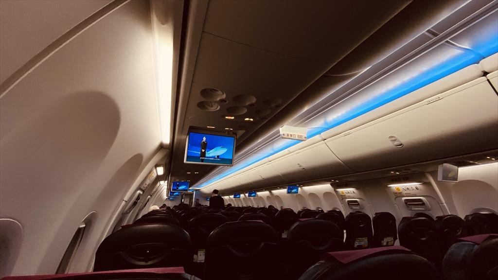ボーイングB737-800型機 NU065 福岡~沖縄(那覇) 普通席 搭乗記 18JAN21