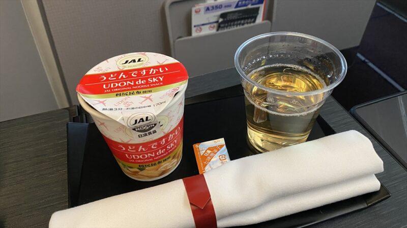 JAL JL916 沖縄(那覇)~羽田 ファーストクラス機内食 22JAN21