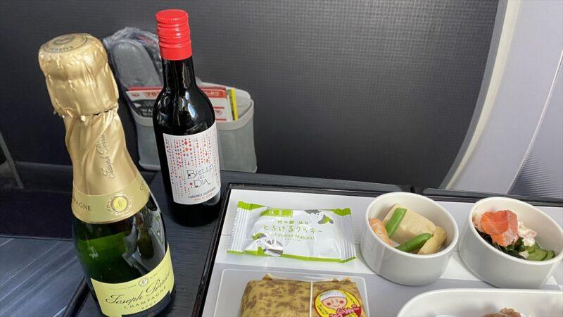 JAL JL127 羽田~伊丹 ファーストクラス機内食 12APR21