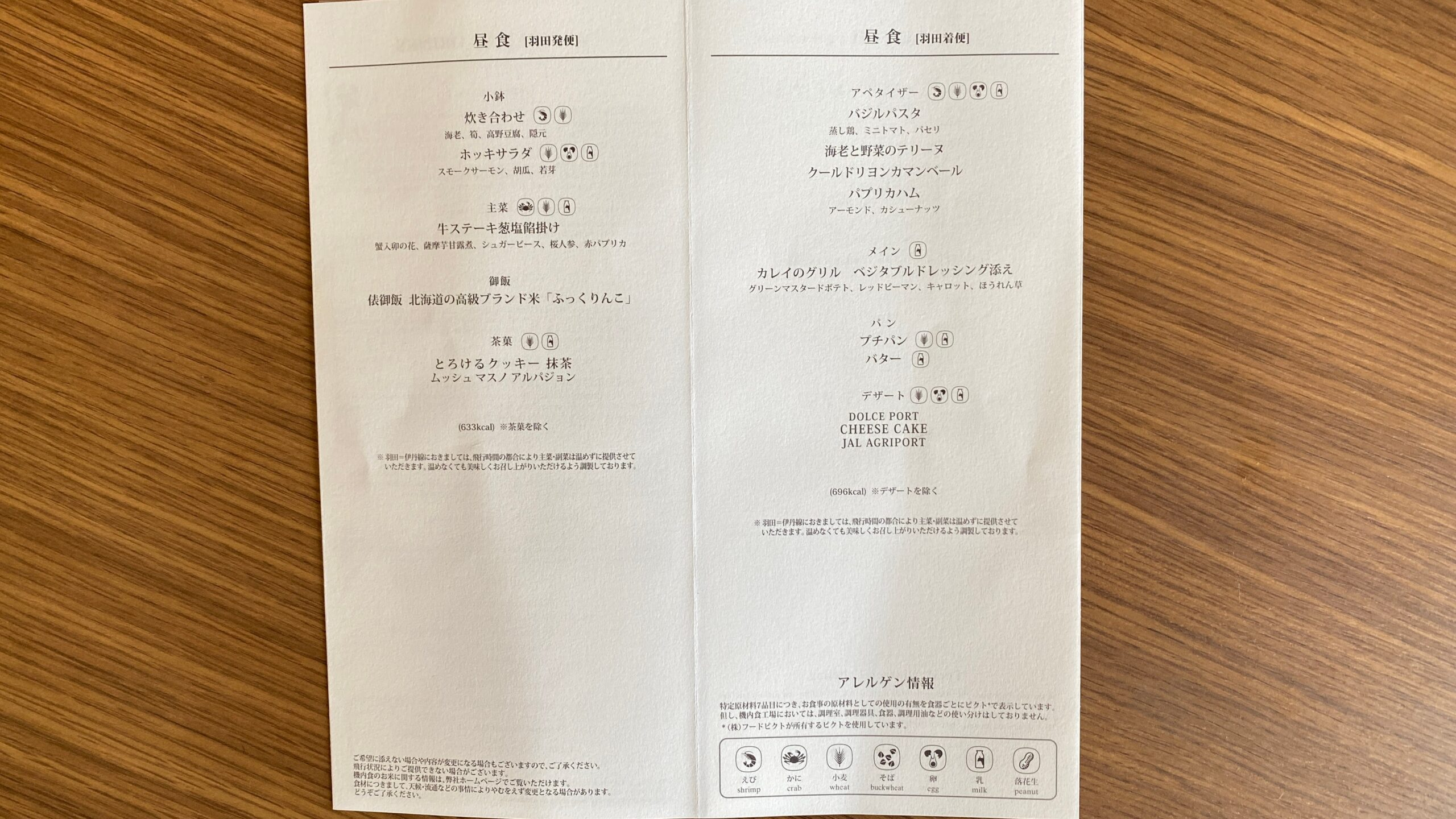 12APR21 JL127 羽田~伊丹 ファーストクラス 機内食