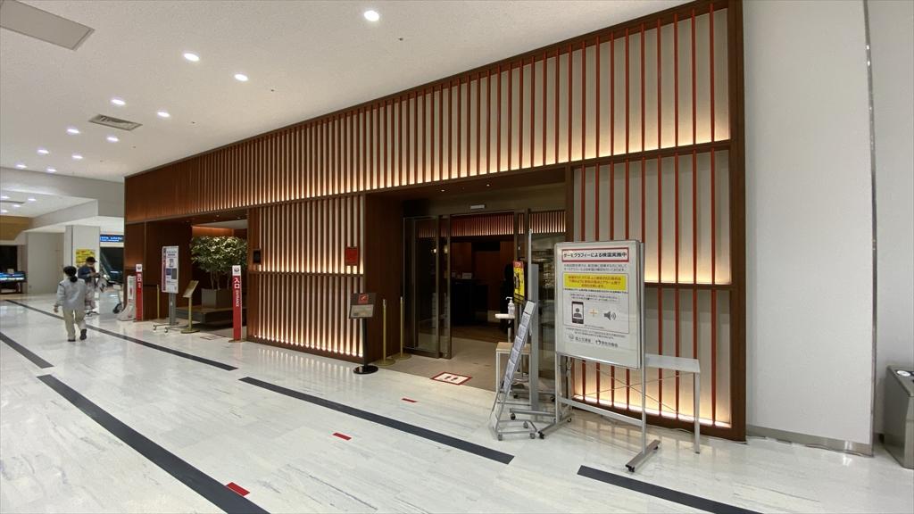 伊丹空港 JAL 専用保安検査場エントランス