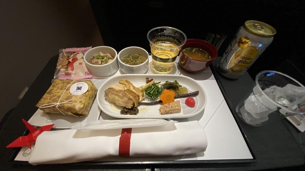 02MAY21 JL529 羽田~札幌(新千歳)ファーストクラス 機内食