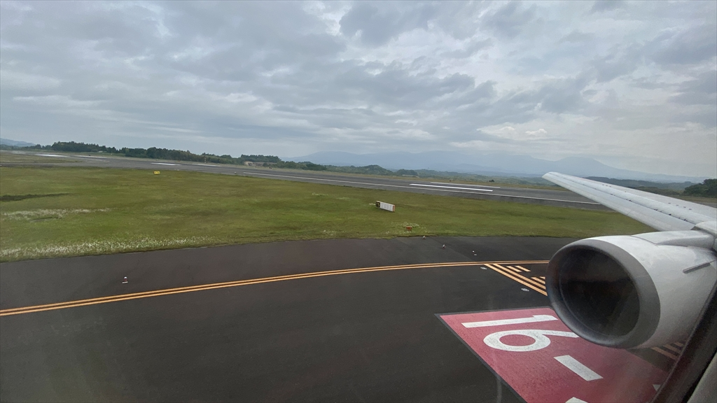 ボーイングB767-300ER型機 JL643 羽田~鹿児島 クラスJ 搭乗記 11MAY21