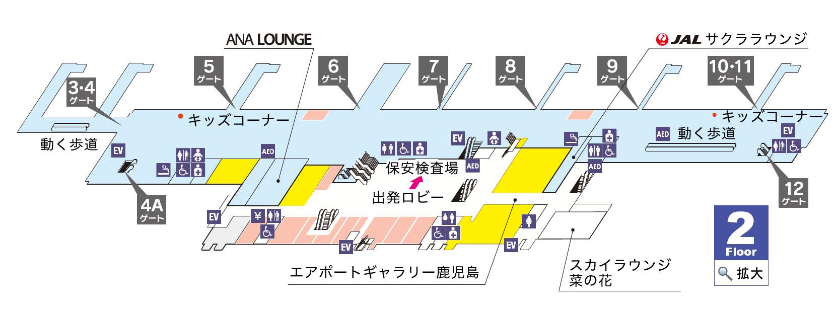 鹿児島空港 空港MAP