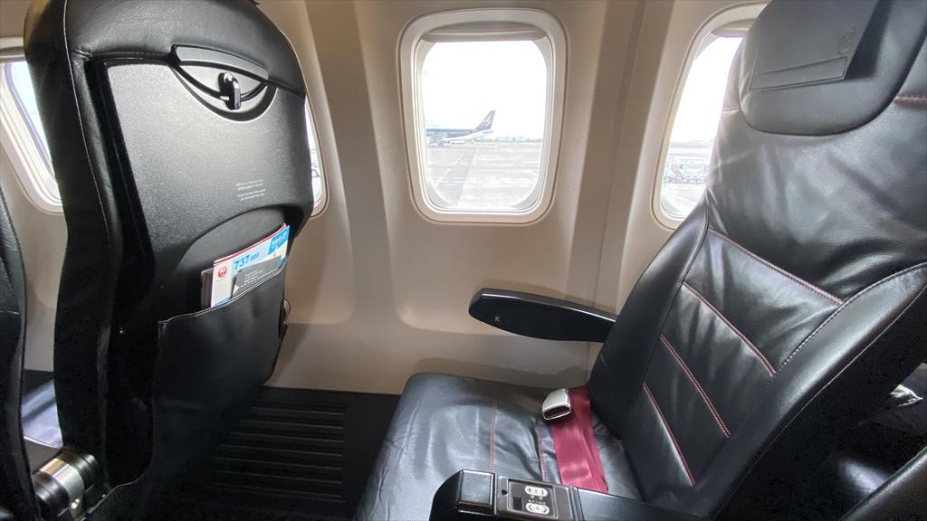 ボーイングB737-800型機 JL231 羽田~岡山 搭乗記 普通席 16SEP21