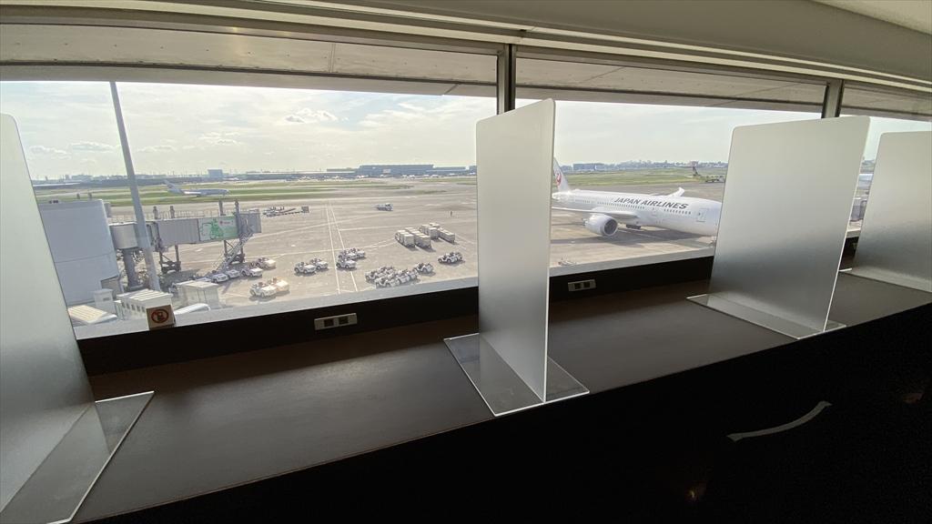 羽田空港 第一ターミナル 北ウィング JAL ダイヤモンドプレミアラウンジ ダイニングエリア